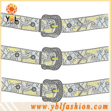 Wholesale Belt glass stone hotfix transfer