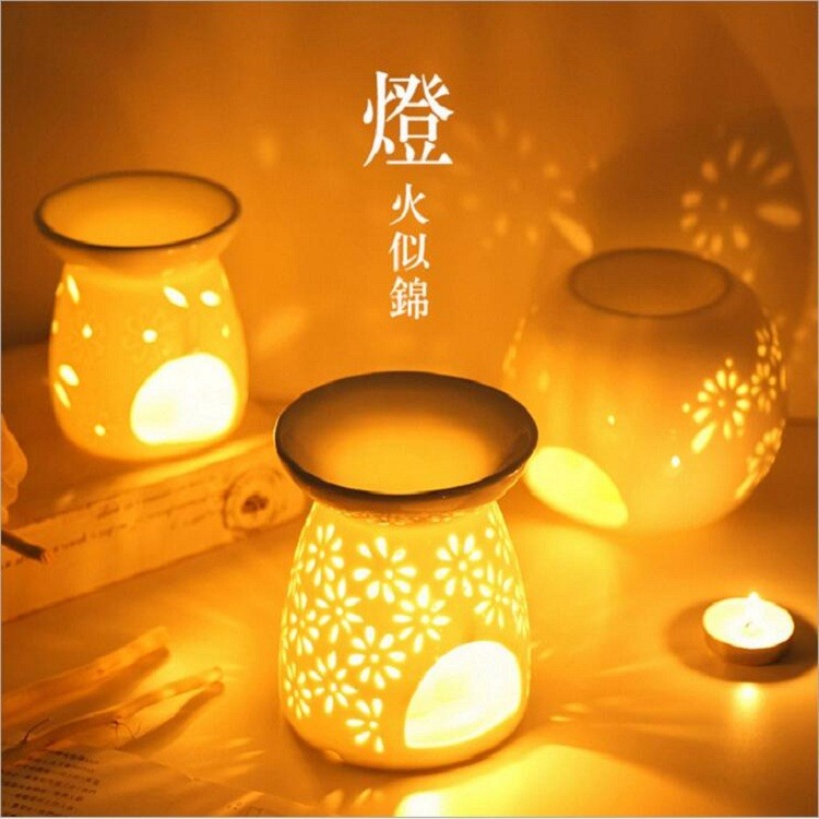 Ceramic Soul aroma mist diffuser ceramic candle warmer and oil burner china incense burner supplier