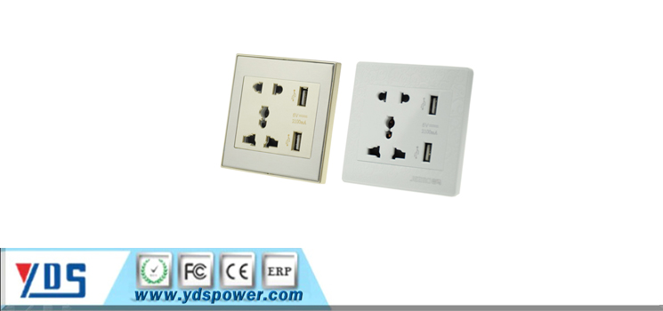 UN usb electrical switched socket universal wholesale hot modern wall switch &socket