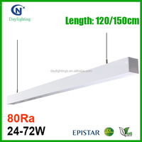 Indoor ceiling surface mounted led batten linear light for office