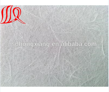 Fiberglass tissue mat with reinforcement in roof waterproof
