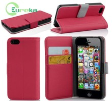 Newest design shockproof folio cell phone leather case for IPhone 5C