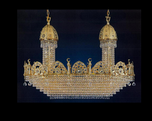Ceiling ship crystal chandelier moroccan pendant light