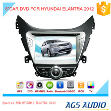 Car DVD GPS Stereo for HYUNDAI ELANTRA 2012 In Dash Navigation Receiver with Capacitive Digital Touch Screen