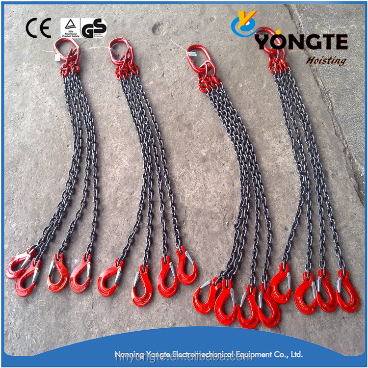 Hot sale G80 alloy steel lifting chain sling 4 legs