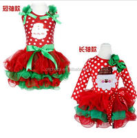 Z51862B Wholesale Fashion Red Christmas kids clothes,funny christmas clothes,santa girls dress