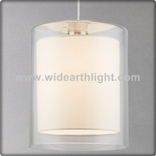 UL Listed Hotel Pendant Glass Lighting With Double Cylinder Shades C30201