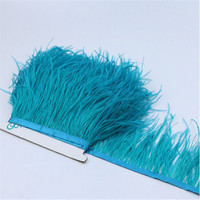 Wholesale Feather Lace Fabric Ostrich Feather Trim Fringe