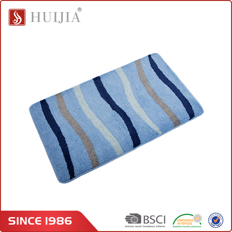 HUIJIA China Factory Direct Sale Most Popular Polyester Microfiber Wave Stripe Play Carpet Mat