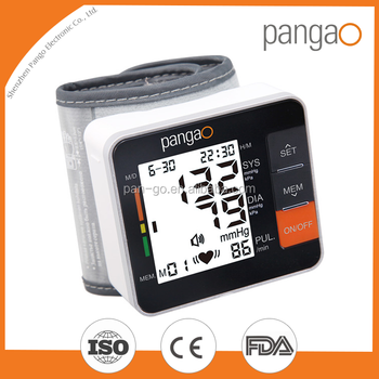 Pangao wrist blood pressure monitor with CE FDA