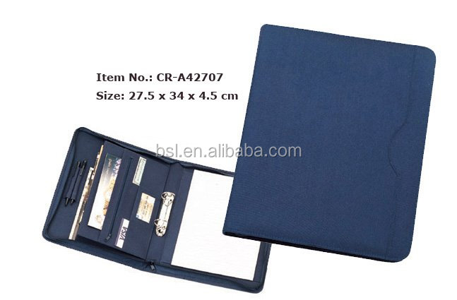 wholesale a4 pu leather portfolio with elegant rope