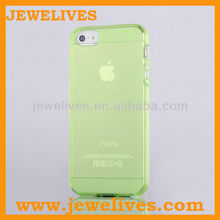 Glass Green Slim Transparent Ultra Thin Matte Hard Case Cover Clear TPU Frame Hybrid For iPhone 5