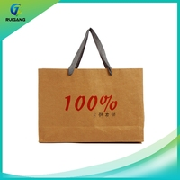 2016 Cheap printed custom made brown shopping paper bags