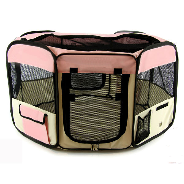 Large 2-Door Waterproof Playpen 8 Side Pet Playpen