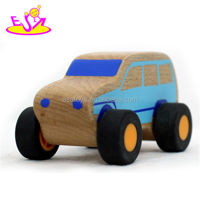 Wholesale cheap best wooden mini car toys for kids W04A056