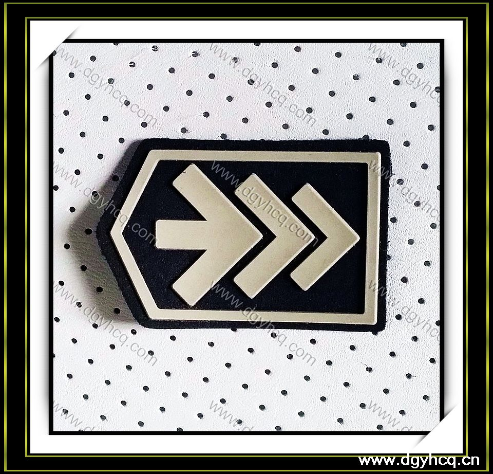 [Leather Material, microfiber suede Leather] tannery wholesale leather label patch for garment