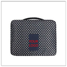 deep blue stars printing receive package zipper portable makeup case with compartments travel cosmetic bag