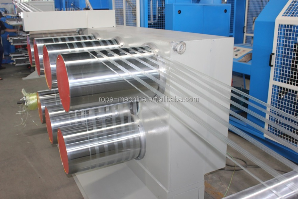 Recycled PP PE split film extruding machine for agriculture twine