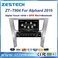 ZESTECH wholesale alibaba car parts for TOYOTA ALPHARD 2015 accessories support DVD/Radio/GPS/Bluetooth/3G/SD/USB/SWC/V-10 discs