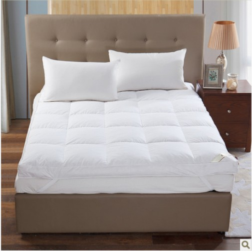 100% cotton fabric with 10% duck down filling hotel duck down Mattress,