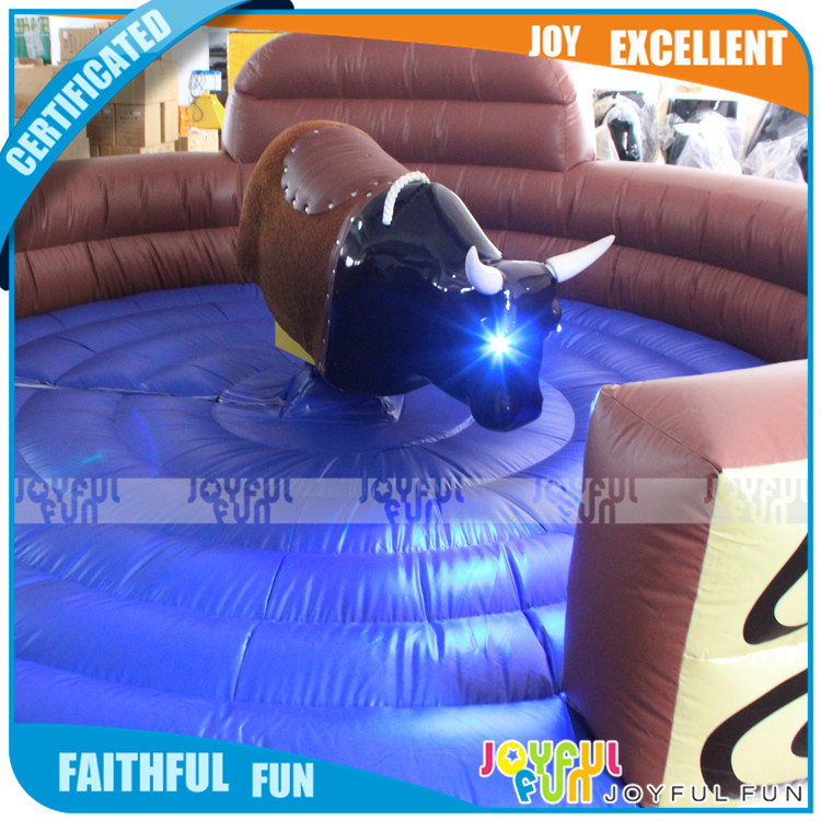 Inflatable Rodeo Bull with mattress, Amusement park Interactive Mechanical Bull ride outdoor game riding toys
