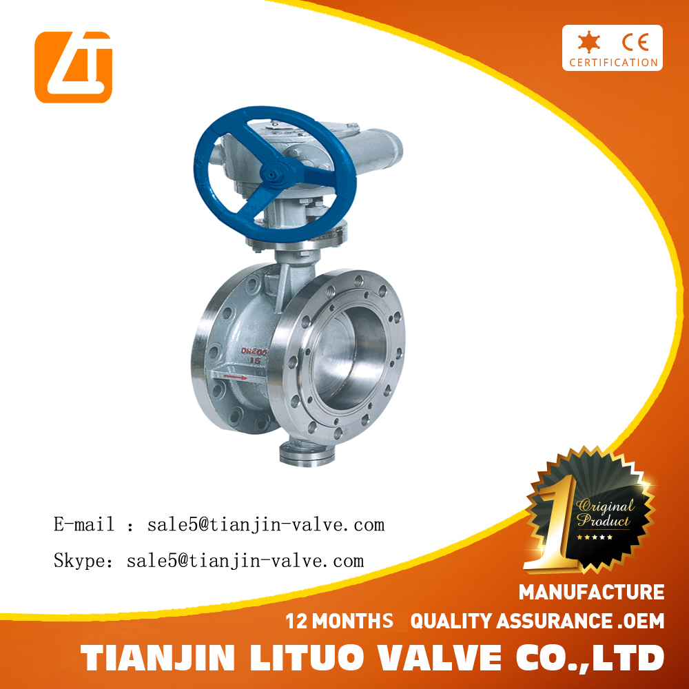 Factory supply directly ISO standard Manual Double triple offset butterfly valve PN16 Ductile Iron WCB BODY