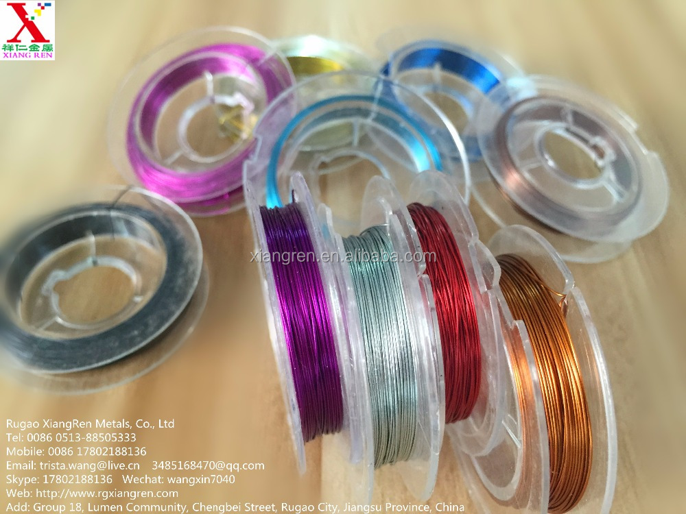 Durable and Best-selling Bead Stringing Wire for jewelry use , Brass/Silver wires also available