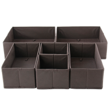 Fabric Foldable Closet/Dresser Drawer Storage Organizer Cardboard Box Dividers for Bra Underwear