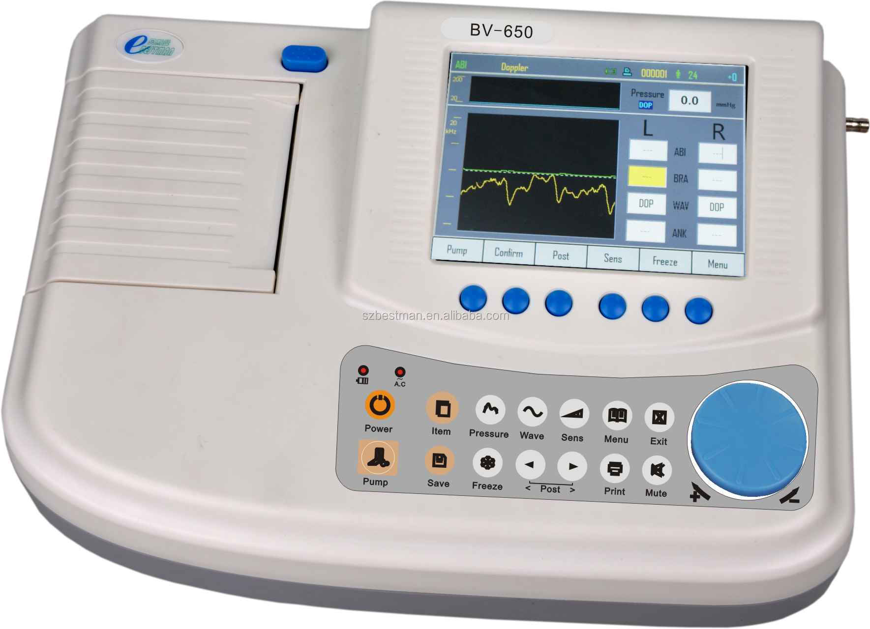 Bestman advanced vascular doppler for ABI TBI and segment detect BV-650 CE mark