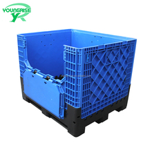 Promotional Large Foldable Storage Container Folding Plastic Bulk Bin for Fruit