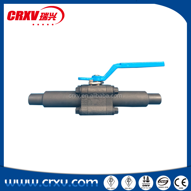 Lever Operate Forge Steel Float Ball Valve With Nipples