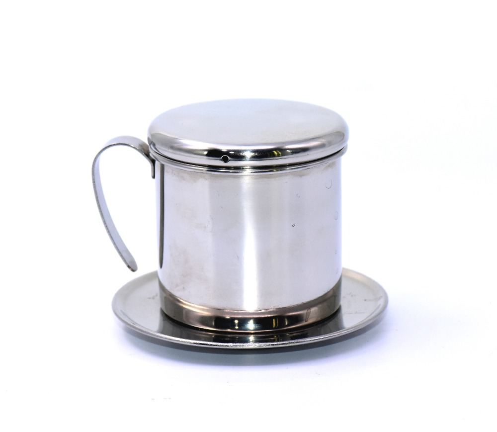 Vietnamese Stainless Steel Strainer Three Piece Coffee Filter Set for Home Kitchen Office Outdoor Use