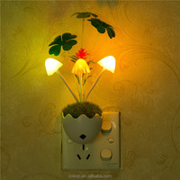 2016 best sale Colorful Changing Mushroom sleeping room wall lamp kids led night light