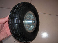 Solid Rubber Wheel 10 inch,3.50-4 flat free tyre