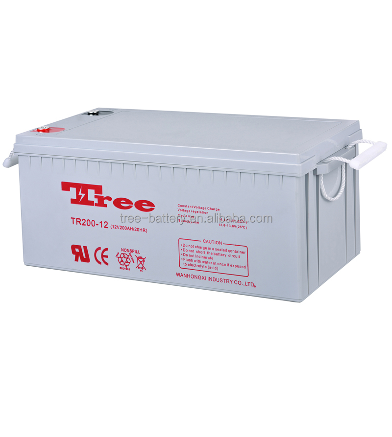 Manufacture Silica 12v200ah Gel Battery for machine