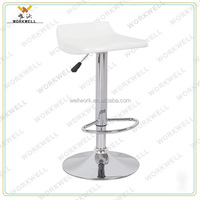 WorkWell cheap design ABS metal high swivel bar lounge stools (Kw-B2032)