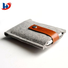 wool felt case covered flip case for cell phone