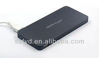 ShenZhen factory mini portable powerbank 10000mah with one built-in cable for your iphone,ipad and all mobile phone