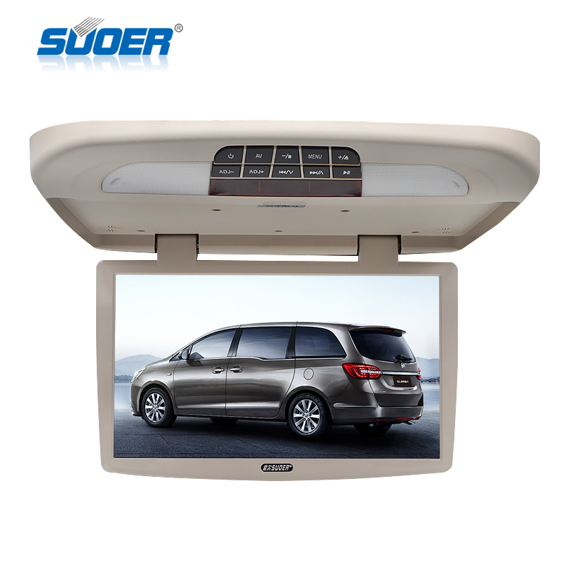 19 inch flip down car roof monitor whit USB/SD/DVD player function car DVD monitor tv Suitable for bus, train and ship