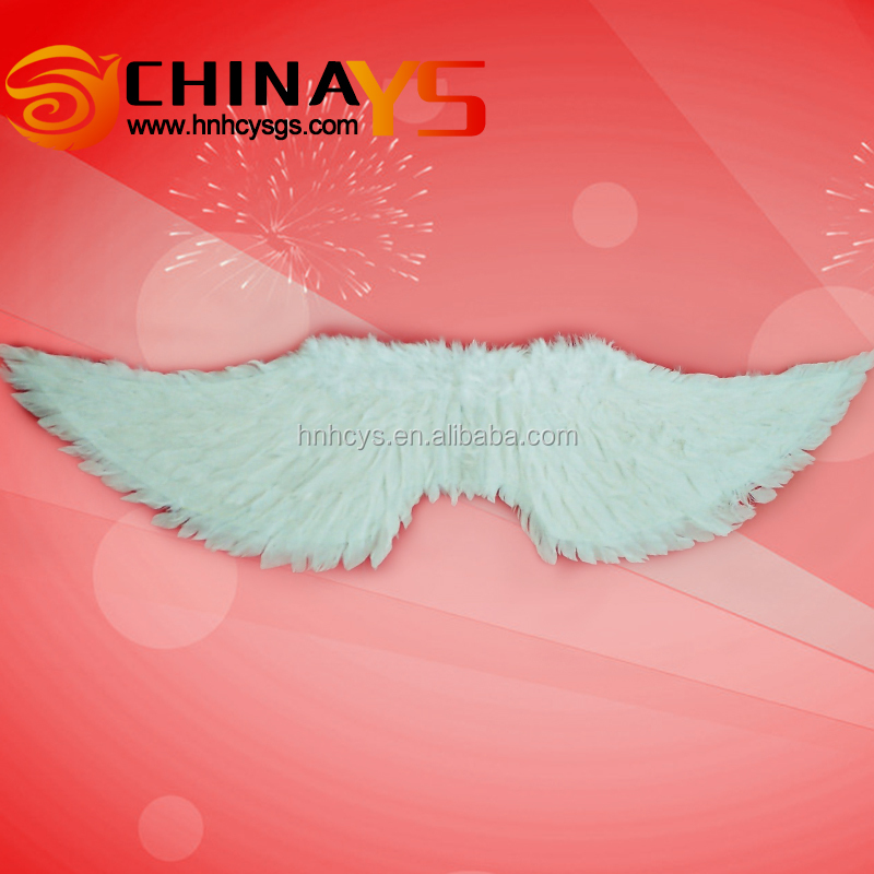 BSCI audit strict quality Large fashion cheap Adult white feather wings goose feather