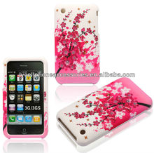 For Apple iphone 3G 3GS Spring Flower Rubberized Design Hard Covers