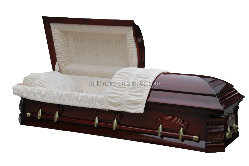 Half Couch Solid Poplar Wood Casket And Coffin American