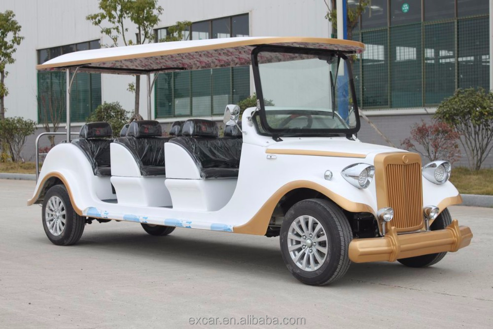 8 seats White fashion type electric Classic Car cheap for sale