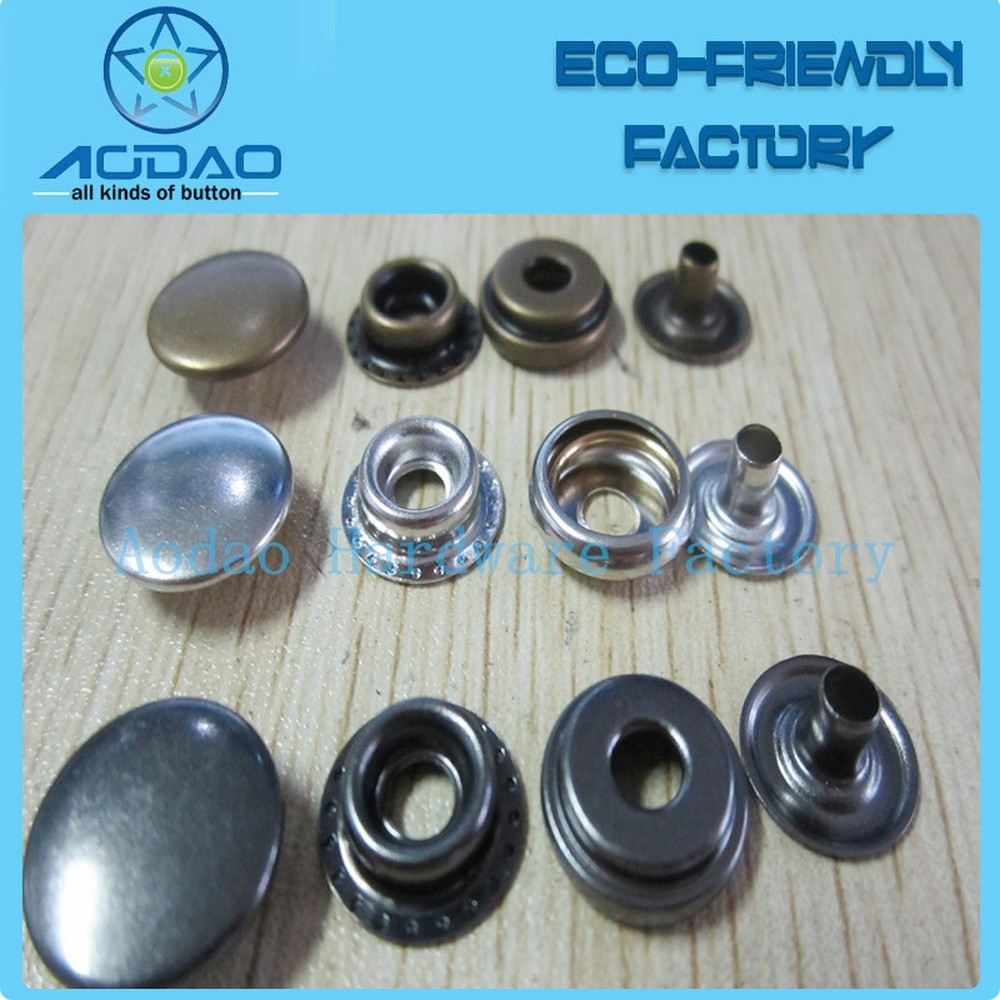 Custom Metal Snap Buttons Four Parts Snap Fastener For Garment