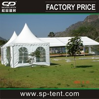 Large tennis volleyball court tent with white pvc Roof top in aluminum frame
