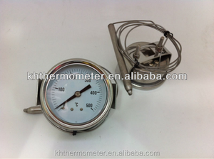 High quality long lifetime pressure cooker thermometer cheap pressure temperature gauge capillary thermometer