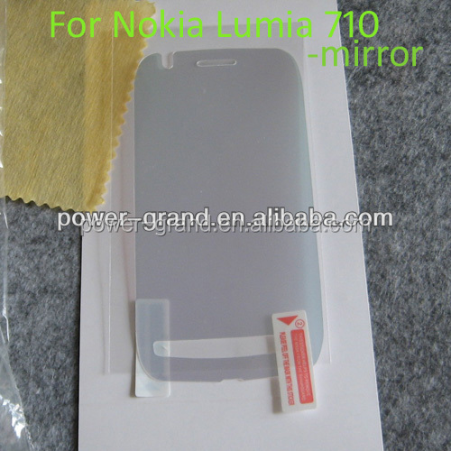 High quality Mirror Screen protector film for Nokia Lumia 710, Paypal also accepted