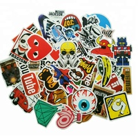 Custom Durable Die Cut Vinyl Removable Skateboard Band Laptop Bomb Decal Stickers