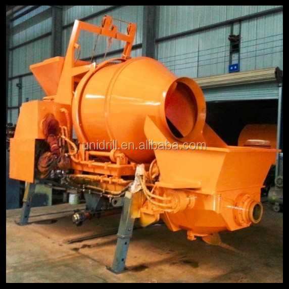 Electric Concrete Pump With Drum Mixer Portable Small Mortar Concrete Pump Mixer Trailer Skid Steer Mortar Grout Cement Pump