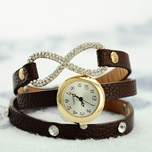 Cheapest Leather Band Watch under $2 Charm Alloy Case Western Watch